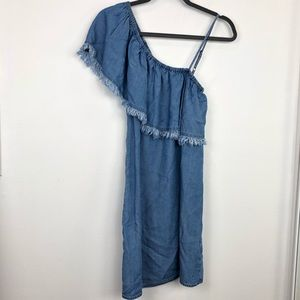 8ff8523fd1ca Splendid Dresses - Splendid Indigo One Shoulder Chambray Dress